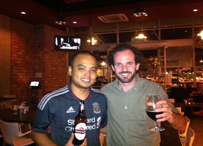 Alvin Lim, um dos sócios do Taps Beer Bar. Gente finíssima!