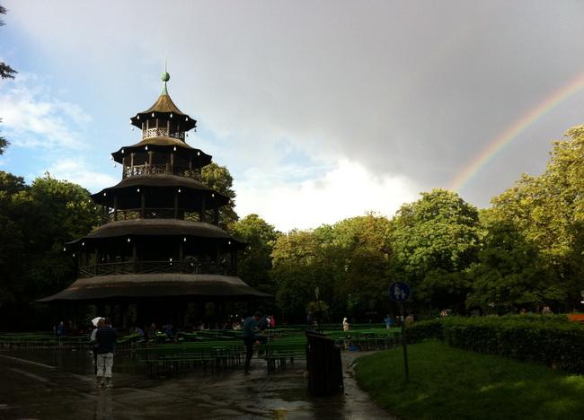 Torre Chinesa no English Garten em Munique