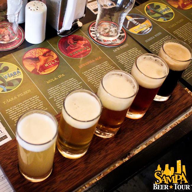 Cervejaria Nacional e a tábua de degustação.