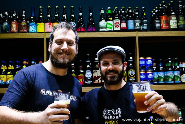 Henrique (Império Cervejeiro) e Edson (Viajante Cervejeiro)