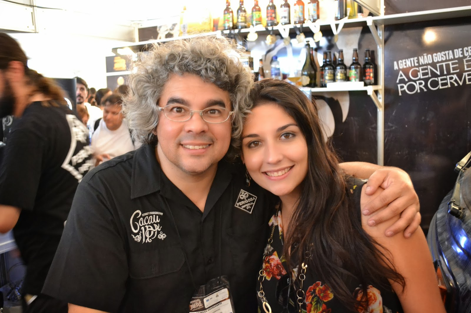 Amanda Henriques com o mestre Samuel Cavalcanti