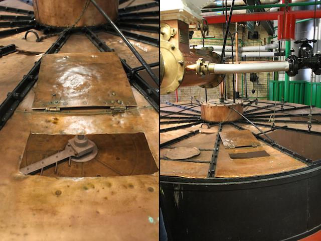Antigo tanque de mosturação feito de cobre