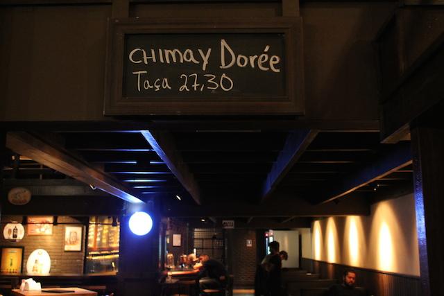 Chimay Dorée on tap. Eu provei! =D
