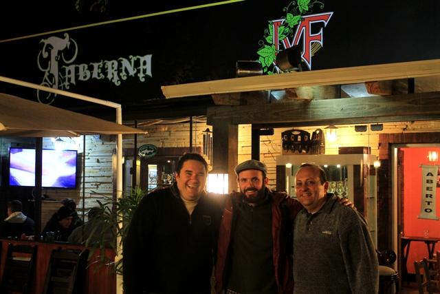 Edson (centro) com Josué Tegner e Aguinaldo Lazaretti