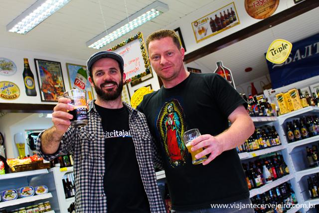 Edson (Viajante Cervejeiro) e Marcelo (Zuffa)