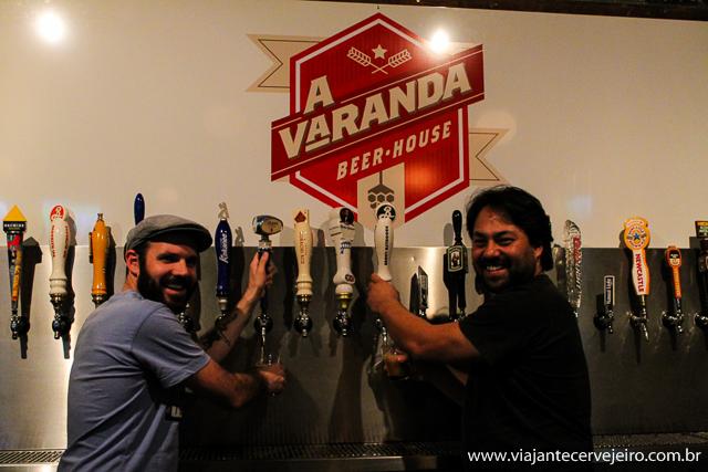Edson (Viajante Cervejeiro) e Roberto (A Varanda)