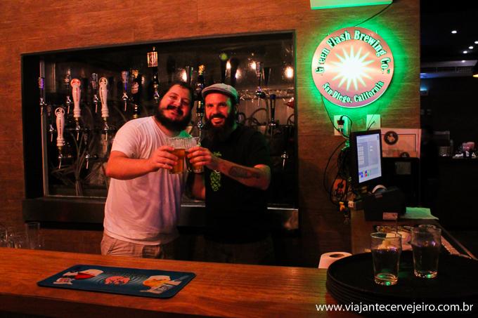 Diego (Pub Escondido) e Edson (Viajante Cervejeiro)