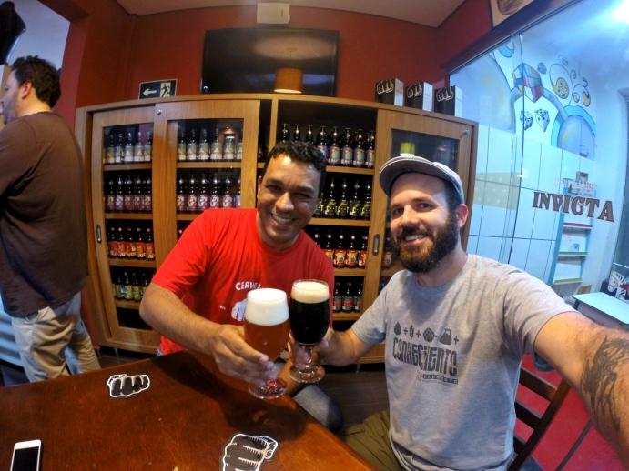 Rodrigo (Invicta) e Edson (Viajante Cervejeiro)